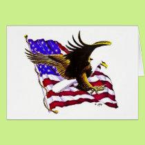 Eagle & Flag Card