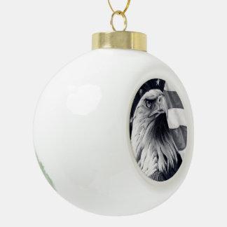 Eagle Flag Christmas Ball Ornament