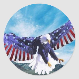 Eagle Flag Classic Round Sticker
