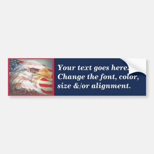 Eagle Flag Create Your Own Bumper Sticker