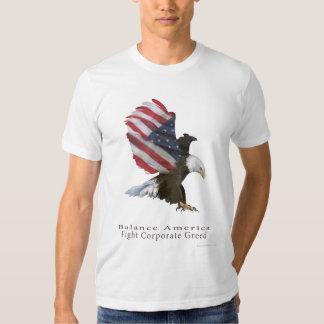 Eagle Flag Fight Corporate Greed Tee Shirts