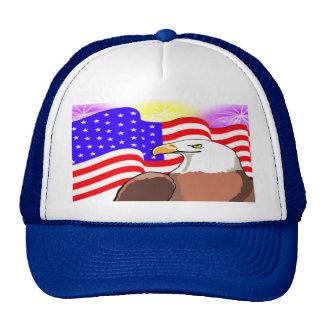 Eagle Flag Fireworks Trucker Hat