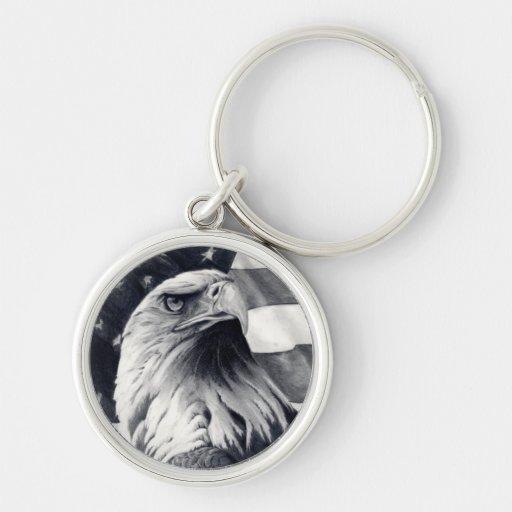 Eagle Amp Flag Keychain Zazzle