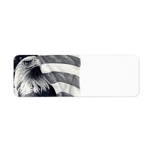 Eagle & Flag Return Address Labels