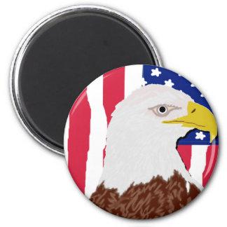 Eagle Flag Round Magnet