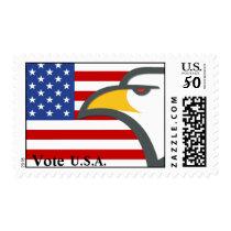 Eagle flag stamp