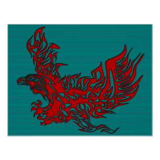 Eagle-Flame-Lovers-Portrait-1 Poster