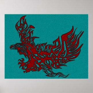 Eagle-Flame-Lovers-Portrait-1-texture-2 Poster