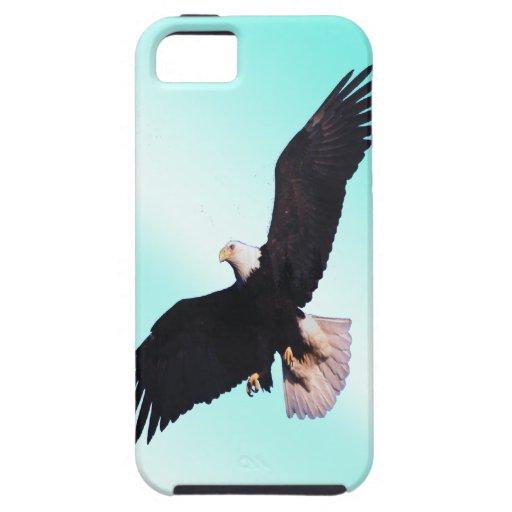 Eagle Flaying en la nube azul iPhone 5 Protector