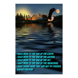 Eagle-Flight-29-Navajo-Proverb Poster