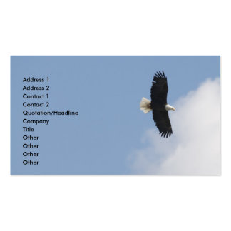 Eagle Flight Over Yellowstone Double-Sided Standard Business Cards (Pack Of 100)