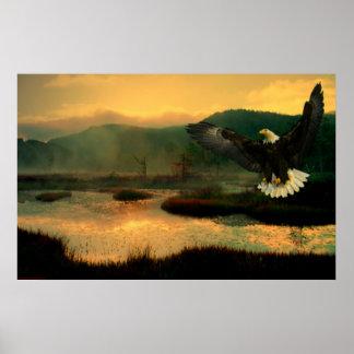 Eagle-Flight-Paint-1 Poster