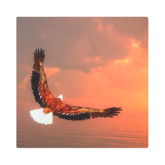 Eagle flying - 3D render Metal Print