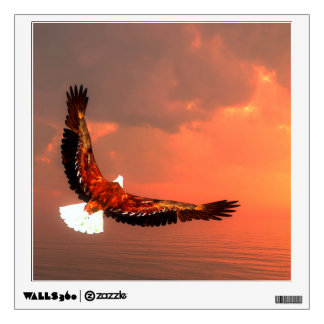 Eagle flying - 3D render Wall Sticker