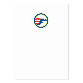 Eagle Flying Flag Side Circle Retro Business Card Templates