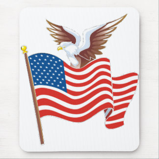 Eagle Flying Free Mouse Pad