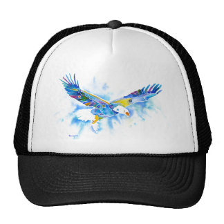Eagle Flying in Blues Gifts & Skins Hat