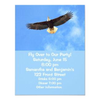 "Eagle Flying 4.25"" X 5.5"" Invitation Card"
