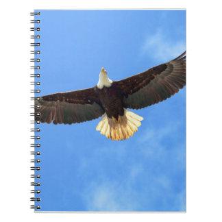 Eagle Flying Spiral Notebook