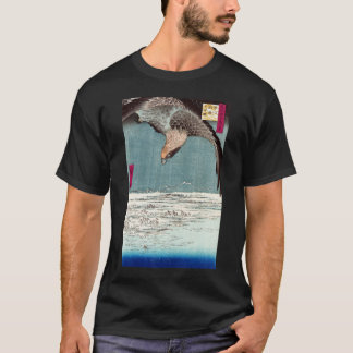 Eagle Flying over the Fukagama District, Hiroshige T-Shirt