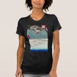 Eagle Flying over the Fukagama District, Hiroshige T Shirt