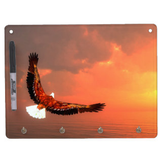 Eagle flying to the sun - 3D render Dry Erase Board With Keychain Holder