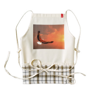 Eagle flying to the sun - 3D render Zazzle HEART Apron