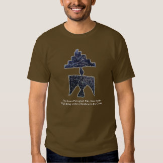 Eagle flying under a Rainbow and Clouds Petroglyph T-Shirt