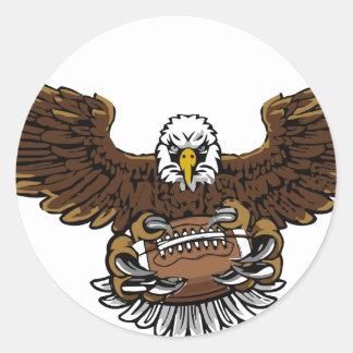 eagle football classic round sticker