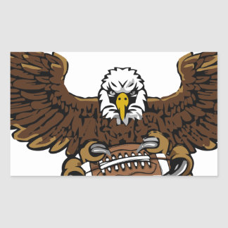 eagle football rectangular sticker