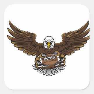 eagle football square sticker
