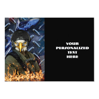 Eagle force rules the skys 5x7 paper invitation card