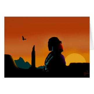 Eagle Gaze Greeting Card