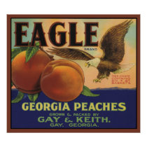Eagle Georgia Peaches Poster