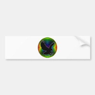 EAGLE GIFT RAINBOW  CUSTOMIZABLE PRODUCTS BUMPER STICKER