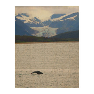 Eagle Glacier with Whale Tail Wood Wall Decor