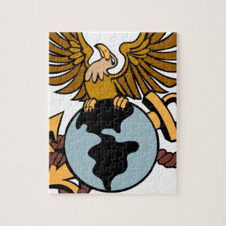 Eagle Globe Anchor Icon Puzzle