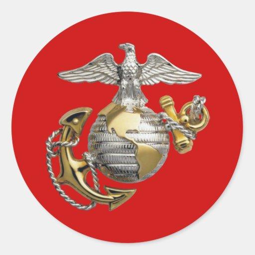 Eagle Globe and Anchor Classic Round Sticker