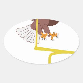 eagle goal post oval sticker
