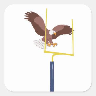 eagle goal post square sticker