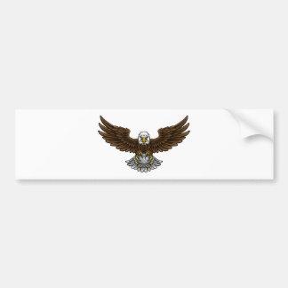 Eagle Golf Sports Mascot Bumper Sticker