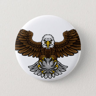 Eagle Golf Sports Mascot Button