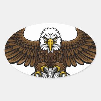 Eagle Golf Sports Mascot Oval Sticker