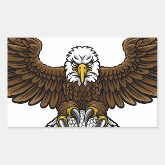 Eagle Golf Sports Mascot Rectangular Sticker