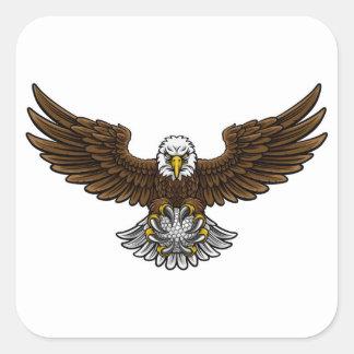Eagle Golf Sports Mascot Square Sticker