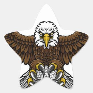 Eagle Golf Sports Mascot Star Sticker