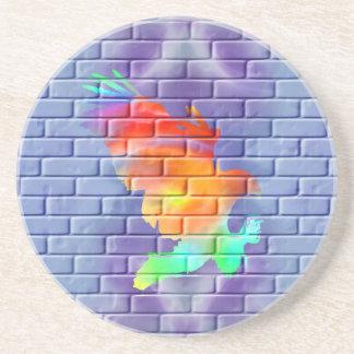 Eagle Graffiti on Brick Wall Coaster