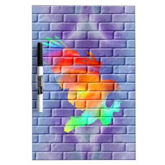 Eagle Graffiti on Brick Wall Dry-Erase Board