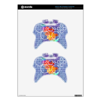 Eagle graffiti on brick wall xbox 360 controller decal