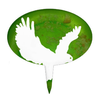 EAGLE GREEN BACKGROUND PRODUCTS CAKE TOPPERS